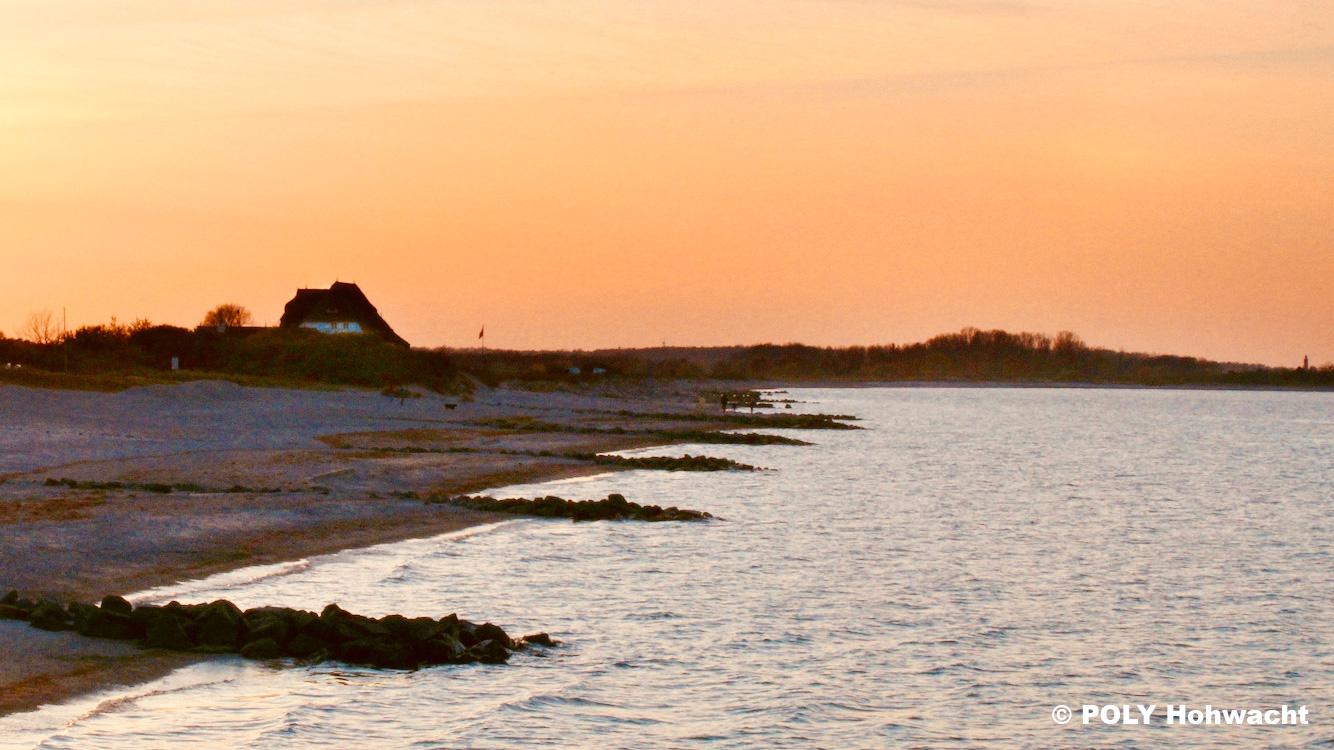 Hohwachter Strand bei Sonnenuntergang