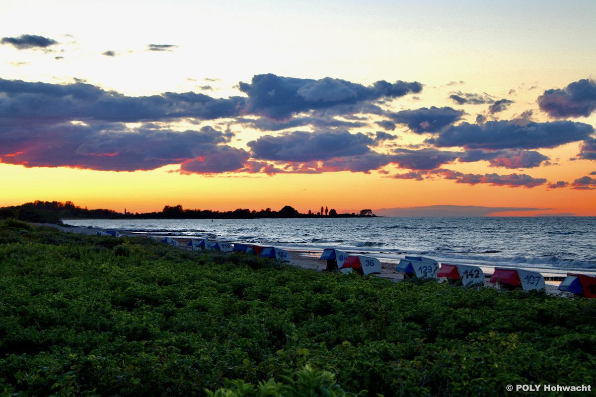 Sonnenuntergang am Hohwachter Strand